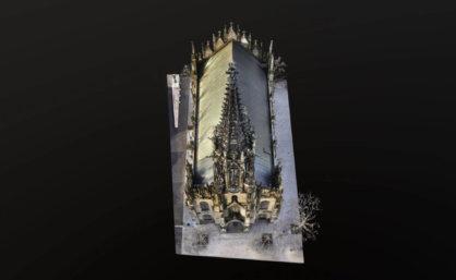 -scan-details-nahaufnahme-3D-visualisierung-3d-rendering-cgi-mesh-modell-elisabethenkirche-basel-hohe-auflösung-drohne-3