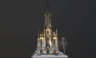 nahaufnahme-scan-3D-visualisierung-3d-rendering-cgi-mesh-modell-elisabethenkirche-basel-hohe-auflösung-drohne-4
