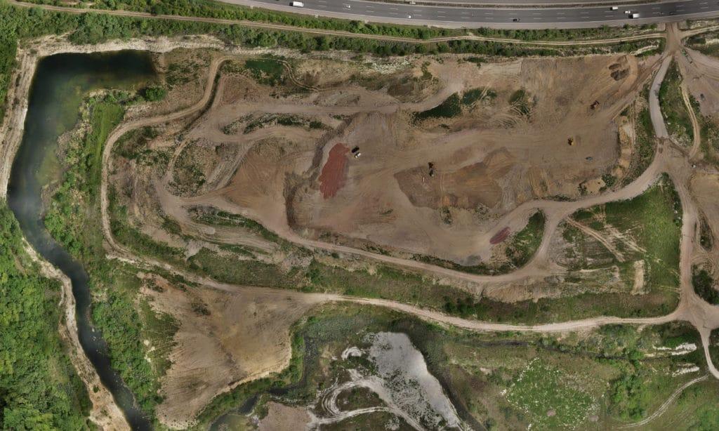 3D Vermessung mit Drohne Terrain Scan mit Drohne von Steinbruch