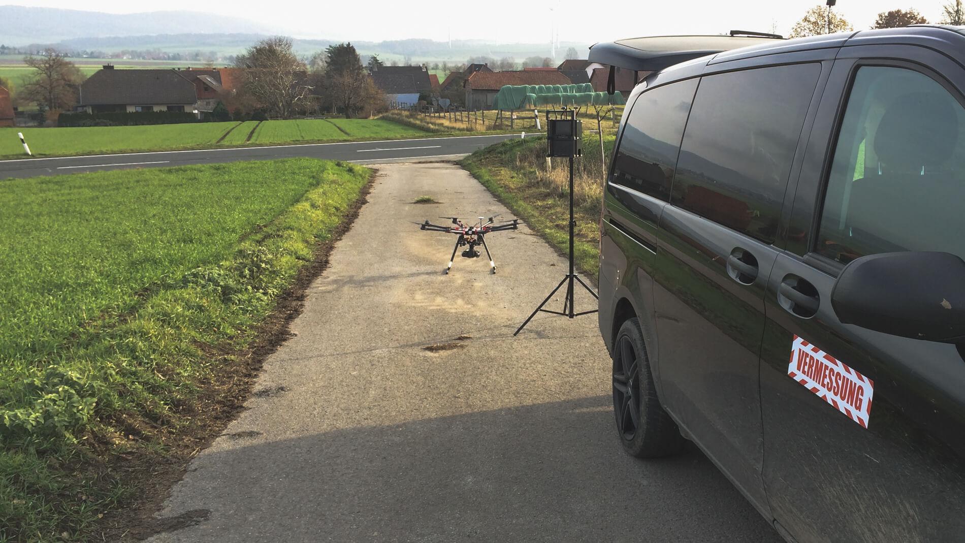 Leandliches-Gebiet-Niedersachsen-Kartierung-mittels-Drohne-Glasfaserausbar-Auskung-per-Drohne
