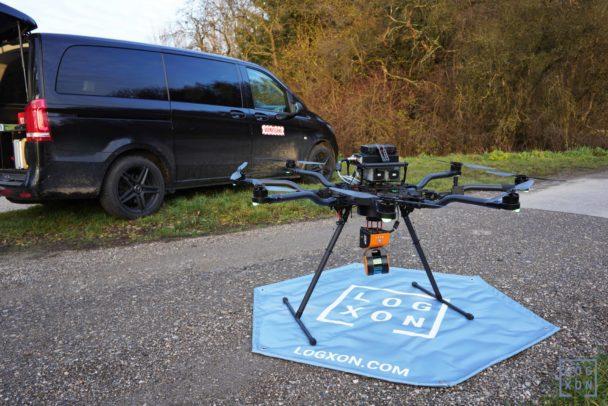 Kurz-vor-Start-GeoSLAM-ZEB-HORIZON-3D-mobile-Scanner-UAV-Laserscanner-Test-UAV-Laserscanning-LiDAR-Drone-Drohne