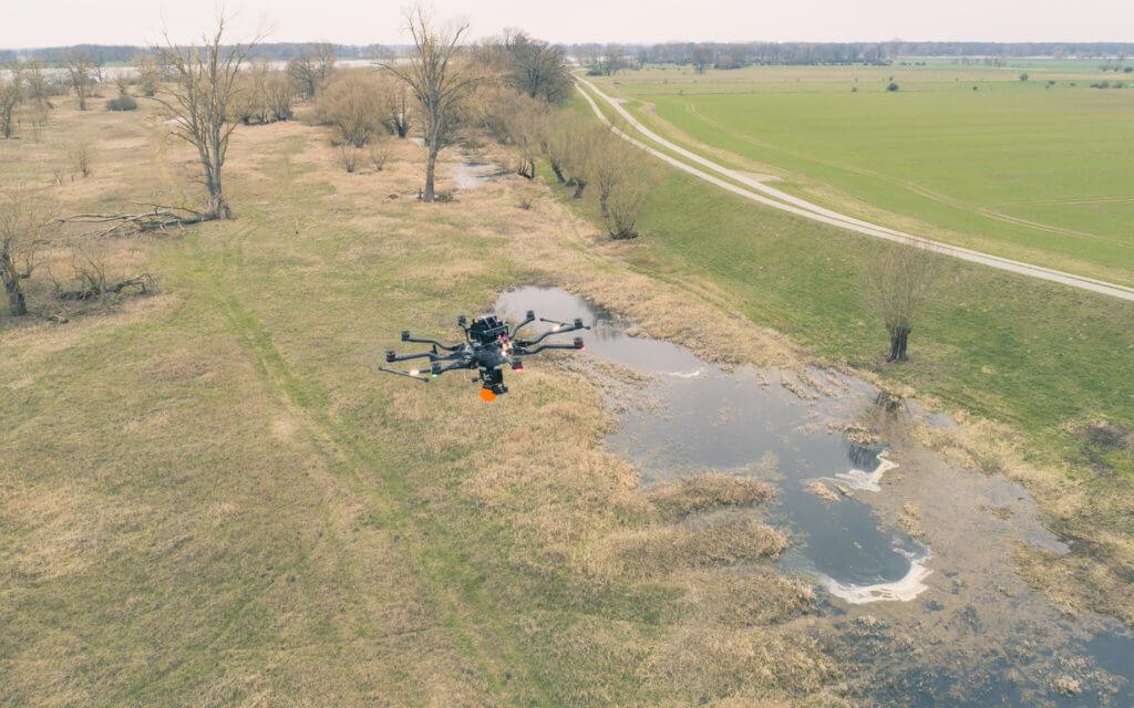 Deichvermessung per Drohne für eine wirtschaftliche und dreidimensionale Bestandsaufnahme