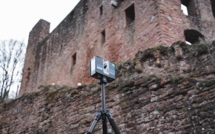 Faro-Laserscanner-3D-Vermessung-Burgen-per-Drohne-Bildvermessung-3D-Laserscans-Logxon-Burg-Freienstein-Odenwald