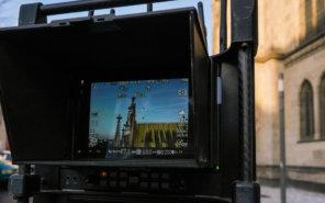 Pilotbild-Messkamera-Photogrammetrie-Drohne-Vermessung-LOGXON-Gebaeudebaufnahme-Kirche-3D-Denkmalvermessung-mittels-Drohne