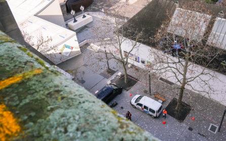 Photogrammetrische-Vermessung-Drohne-HMQ-AG-3D-Denkmalvermessung-mittels-Drohne-LOGXON-Gebaeudebaufnahme-Kirche-Basel-Schweiz