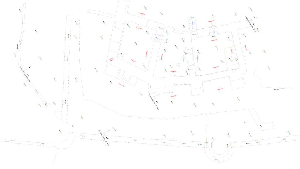 CAD-Modellierung-Ausschnitt-Grundriss-CAD-Plan-3D-Drohnenvermessung-einer-Burgruine-Burg-Vermessung