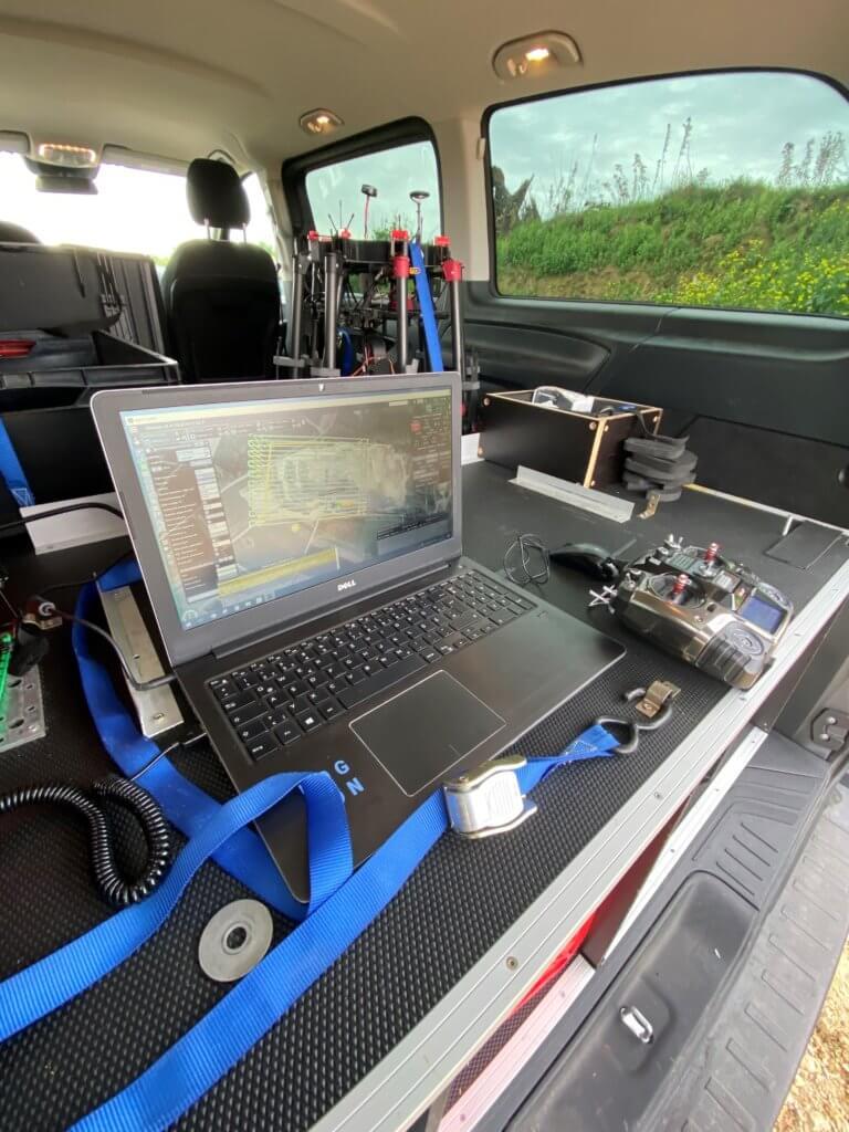 UgCS-Grundstation-Pro-Drohne-Flugmission-GPS-Steuerung-Steinbruch-Photogrammetrische-Gelaendevermessung-Steinbruch-Drohne-Logxon-Porter-UAV-Hexacopter-Multicopter