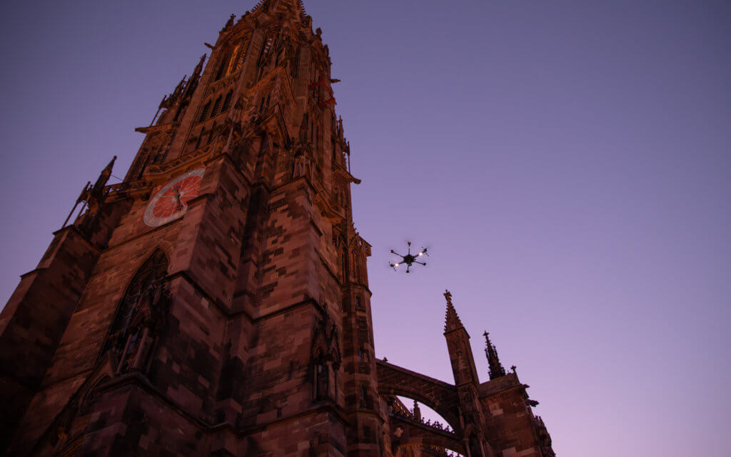 3D Kirchen Vermessung per Drohne am Freiburger Münster