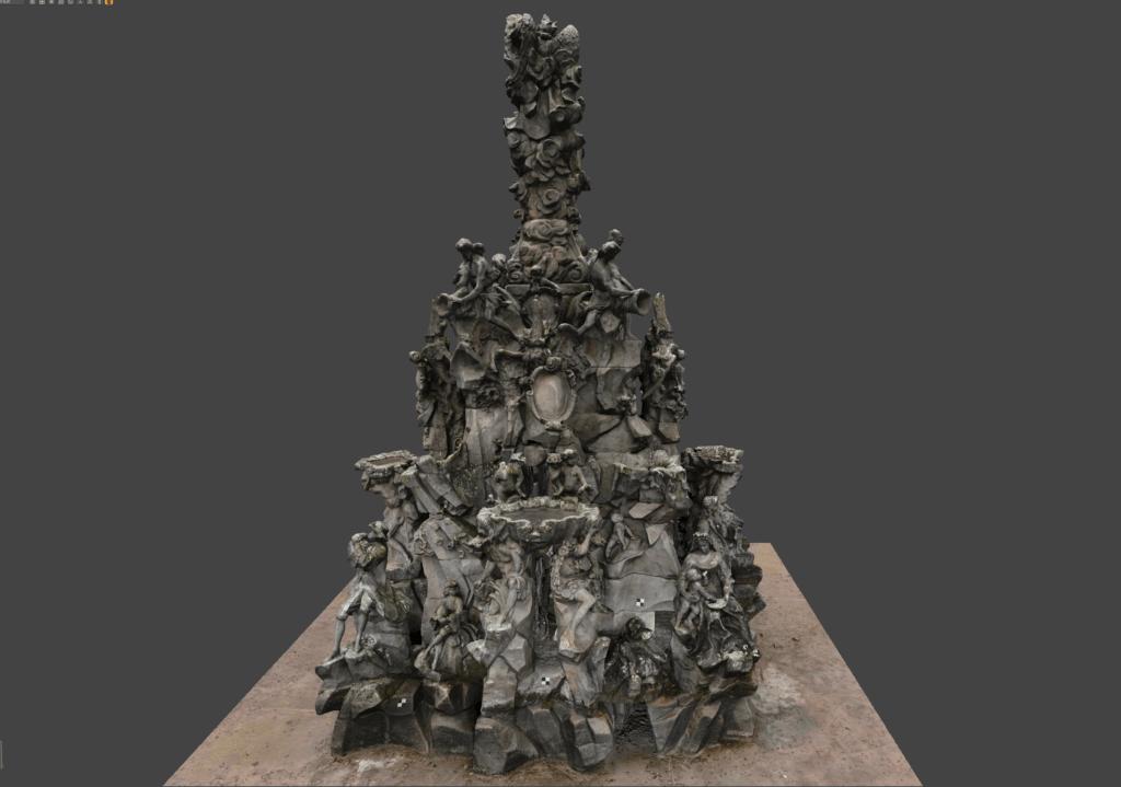 3D Vermessung im Denkmalschutz per Drohne und terrestrischer Photogrammetrie: Hugenottenbrunnen Erlangen