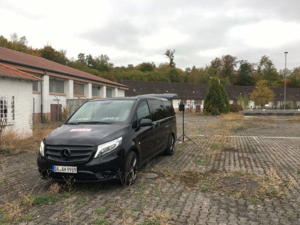 LOGXON-Bus-Pilotbild-Verlassenes-denkmalgeschützes-Gebaeude-Kaserne-BTS-Drohnenbefliegung-visuelle-Dokumentation-DGM-Erstellung-Cambrai-Fritsch-Kaserne-Darmstadt
