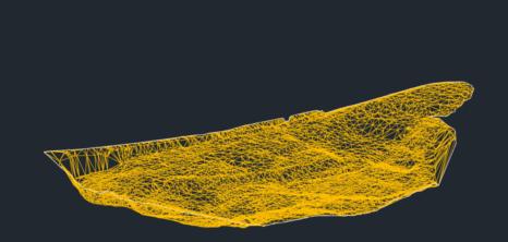 Dreiecksvermaschung-Volumenberechnung-Ergebnis-DGM-Erstellung-eines-Steinbruchs-aus-Drohnendaten