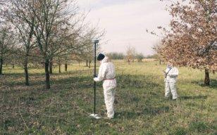 GPS-DGPS-GNSS-Vermessung-fuer-UAV-LiDAR-Vermessung-zur-Erfassung-der-Vegetationsstruktur-von-Waldflächen-Elbe-Elbvorland-Brandenburg