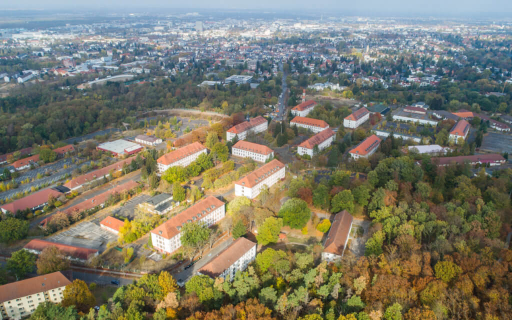 Drohnenbefliegung für eine visuelle Dokumentation und DGM Erstellung der Cambrai-Fritsch-Kaserne Darmstadt