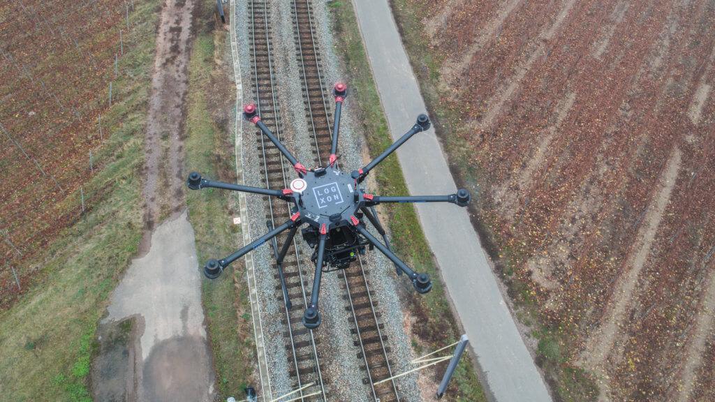 Trassenvermessung per Drohne: 3D Bestandsaufnahme einer Bahnstrecke in Rheinland-Pfalz