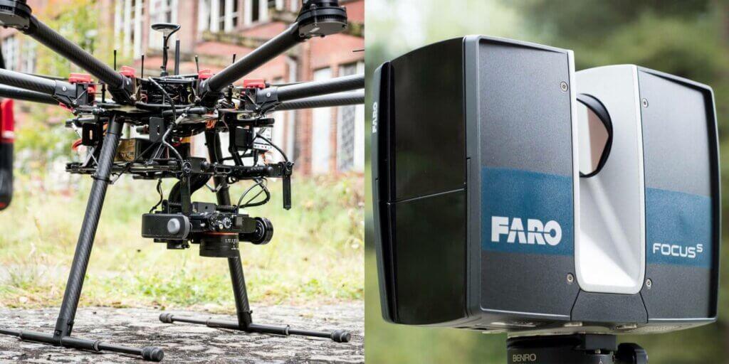 Luftbild Photogrammetrie vs. LiDAR Scanning mit Drohnen – Ein Vergleich