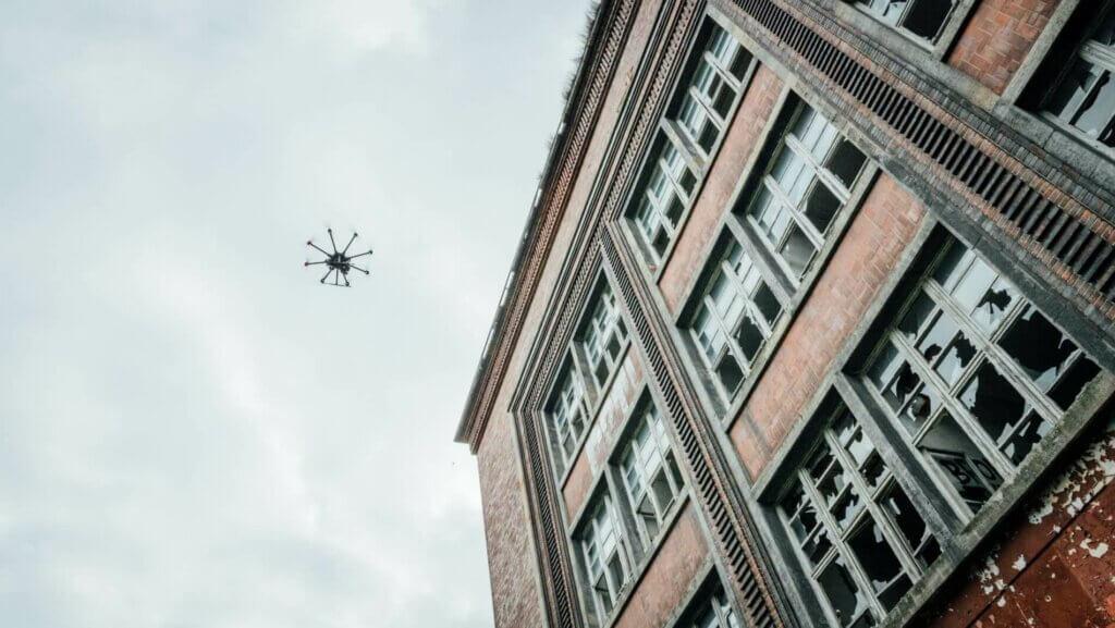 Vermessung von Fassaden mit Drohnen & UAV Fassaden Dokumentation