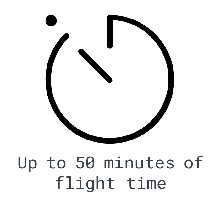 LOGXON-Icon-50-minutes-flight-time-stopwatch