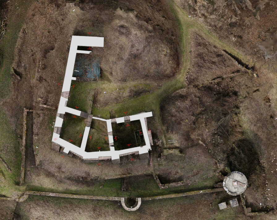Orthophoto-2D-plan-floor plan-castle-results-orthophoto-floor plan-3D-monument-survey-by-drone-laser-scanning-monument protection-Burg-Freienstein