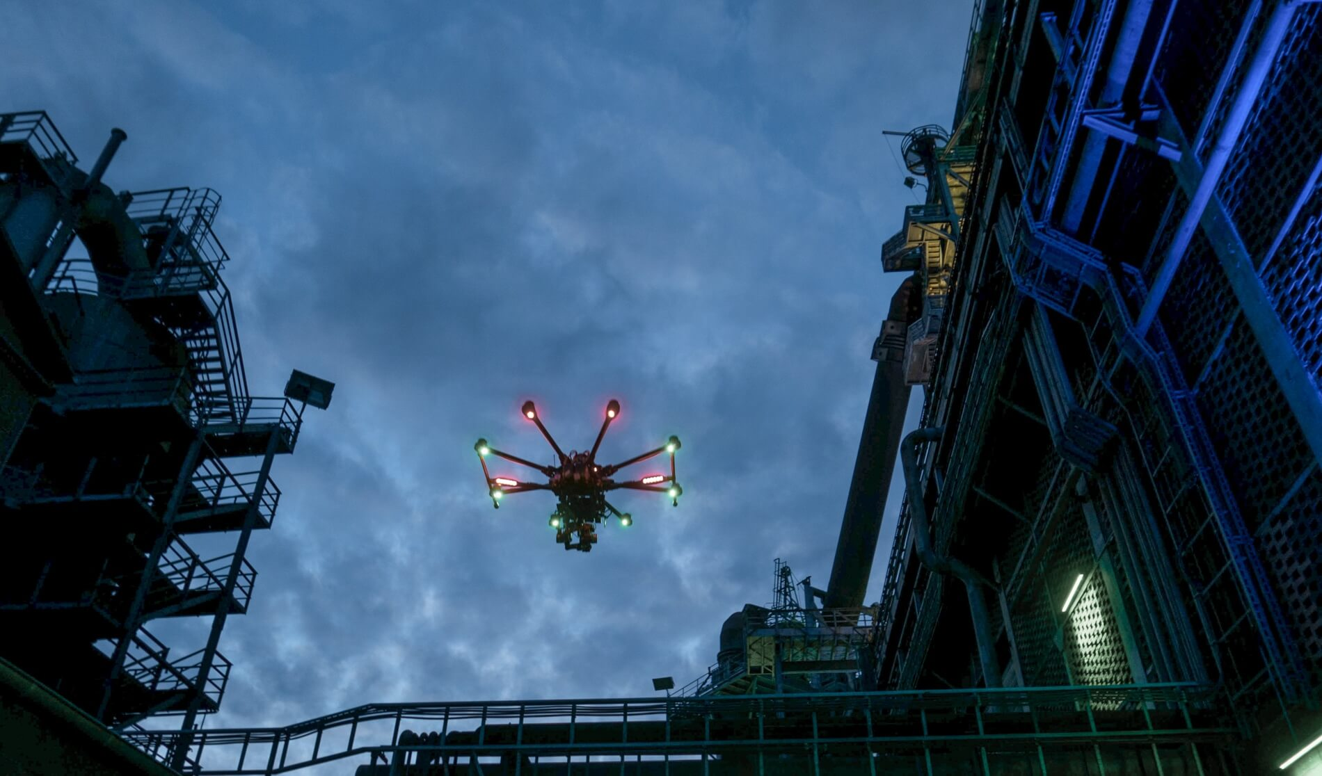 UAV inspection, monitoring using aerial images and pont clouds by LOGXON