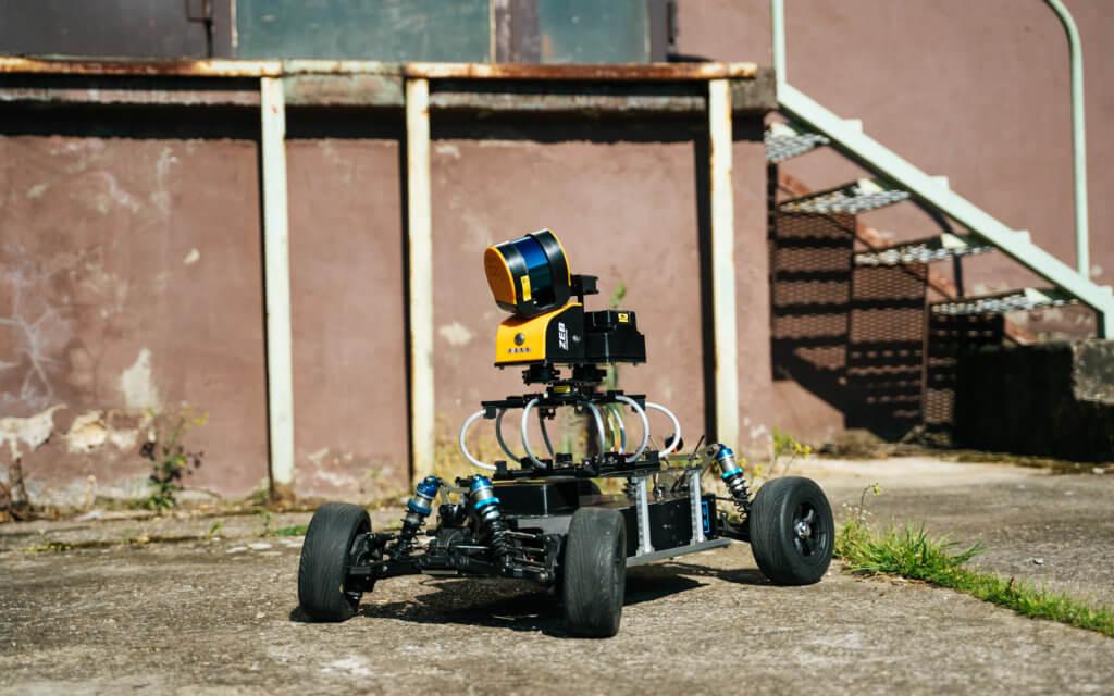 Mobile-Laserscanning-with-Geoslam-ZEB-HORIZON-on-LOGXON-Rover-RC-Car