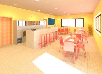3D-Rendering-Bar-Bistro-Indoor-Tennis-court-tennis-court