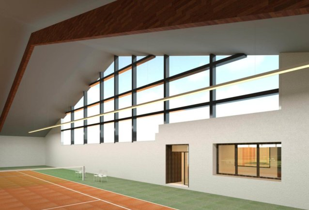 Rendering-Autodesk-3ds-Max-Indoor-Tennis-court-tennis-court-rendering-textured-3D-model-of-3D-point-cloud