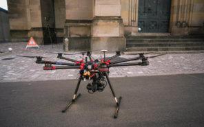 3d-monument-survey-scanning-drone-laserscanning-church-documentation-restoration-concrete-gimbal-on-site-uav